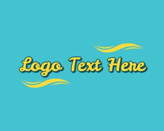 Cool Summer Script  Logo