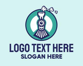 Dental - Blue Dental Train logo design