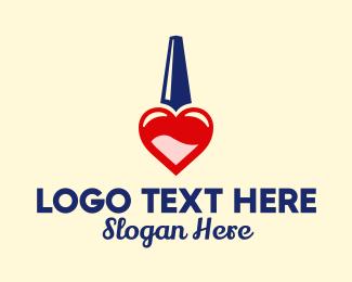 Manicurist - Nail Polish Love logo design