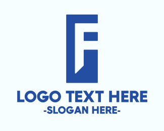 Freelancer - Generic Blue Letter F logo design