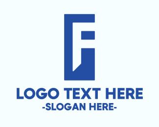 Rectangle - Generic Blue Letter F logo design