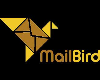 Post - Origami Mail Bird logo design