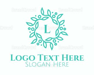 Blue Wreath Logo Maker