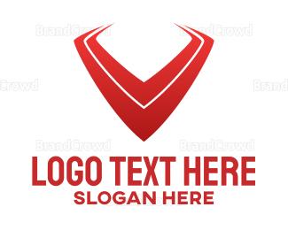 Edge - Red Sharp V logo design