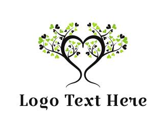 Dainty - Heart Tree logo design