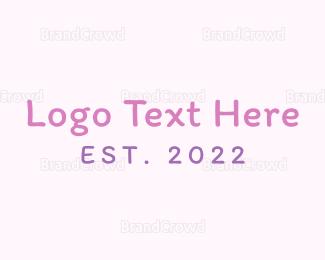 Newborn - Girl Handwriting logo design