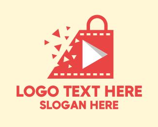 Shattered - Youtube Shattered Shopping Bag logo design