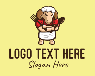 Mutton - Ram Chef Cook logo design