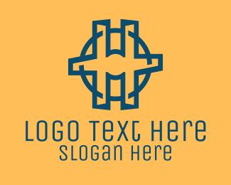 Business Solutions - Letter H Circle logo design