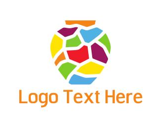 Pottery - Mosaic Vase logo design