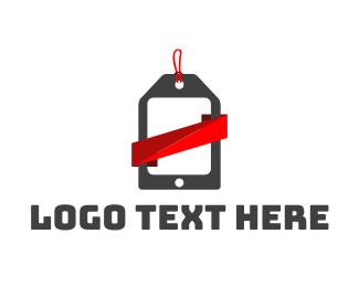 Shopify - Mobile Tag logo design