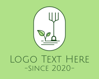 Simple - Simple Gardening Rake Leaf logo design