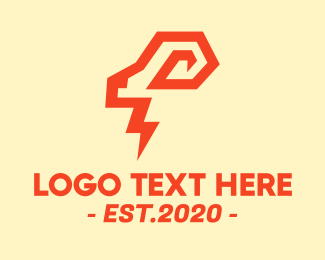 Mountain Goat - Electric Ram logo design