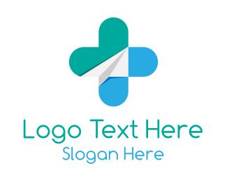 Medical Operation - Medicine Paper Airplane logo design