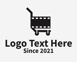 Movie Production - Movie Film Cart logo design