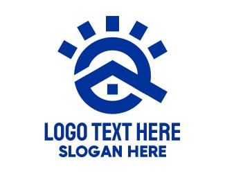 Gutter - Blue Sun House logo design