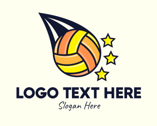 Volleyball Equipment - Volleyball Tournament logo design