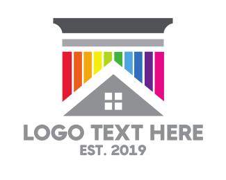Transgender - Colorful Pillar House logo design