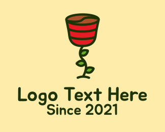 Leaf - Rose Coffee Bean logo design