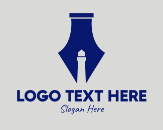 Fountain - Lighthouse Fountain Pen  logo design