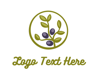 Grape - Olive Plant logo design