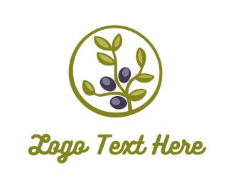 Grape - Olive Plant logo design