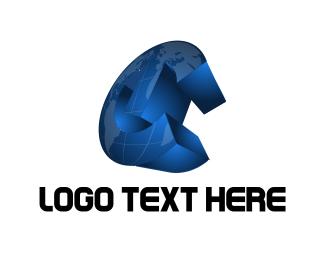 Earth - World Map logo design