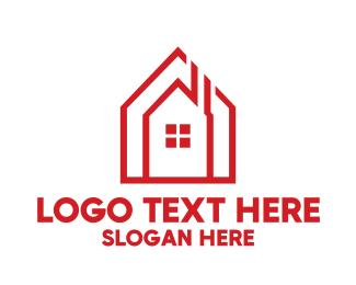 Chimney - Chimney House Outline logo design