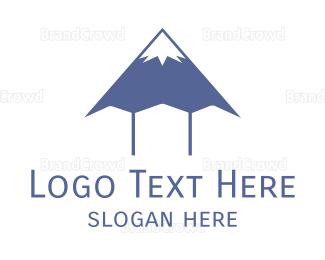 Everest - Blue Mountain Pen logo design
