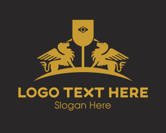 Gold Horse - Gold Sphinx  logo design