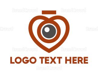 Dating - Heart Eye logo design