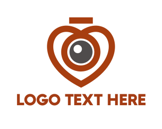 Spy - Heart Eye Photography Camera logo design