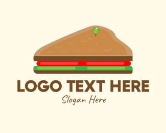 Breakfast Restaurant - Isometric Sandwich logo design