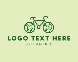 Bike Tour - Eco Friendly Bicycle logo design
