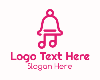 Music Producer - Pink Music Bell logo design