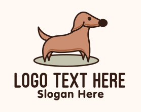 """Brown Dachshund Dog"" by FishDesigns61025"