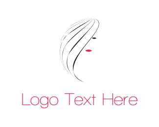 Hairstyle - Pretty Girl logo design