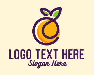 Fruity - Fresh Orange Fruit logo design