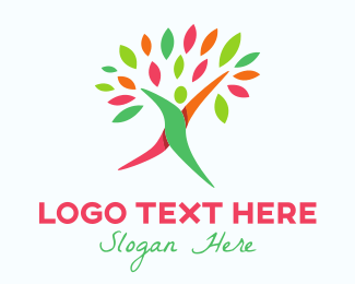 Human Tree - Walking Tree logo design