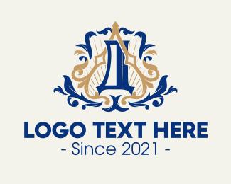 Swirls - Intricate Royal Emblem logo design