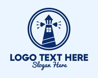 House Boat - Lighthouse Home  logo design