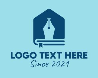 Vector - Pen Book House  logo design