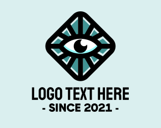 Tarot Card - Hypnotic Eye Box logo design