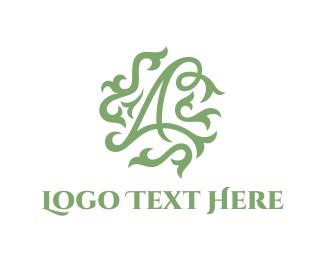 Interior Decoration - Floral Letter A logo design