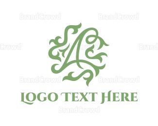Act - Floral Letter A logo design