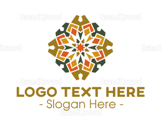 Cathedral - Gothic Textile Pattern logo design
