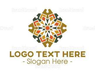 Flooring - Gothic Textile Pattern logo design