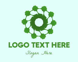 Eco-fiendly - Eco-Friendly Flower logo design