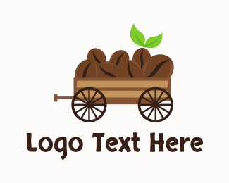 Vintage - Organic Coffee Wagon logo design