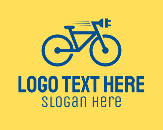 Riding - Electric Bike logo design